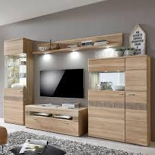 ideal möbel miro wohnwand kombination 09 in eiche bianco