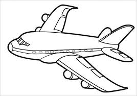 Nice Airplane Coloring Page