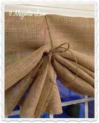 Tutorial How To Make A No Sew DIY Burlap Window Valance