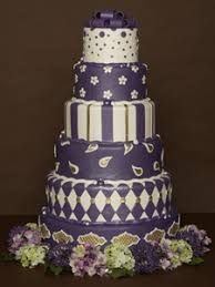 Cake Image Purple Fondant Wedding