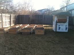 I Had The Dirt Delivered And To Use A Shovel Wheelbarrow Move It All Used Pallet Collars Make Planting Beds