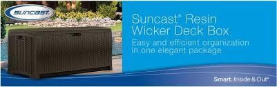 wicker deck box storage quality plastic sheds