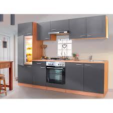 respekta küchenzeile ohne e geräte lbkb270bg 270 cm grau buche nachbildung
