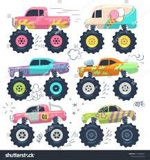 Monster Trucks Kids Car Toys Cartoon Stock Vector (Royalty Free ...