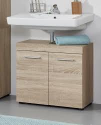 badezimmer waschbeckenunterschrank runner in sonoma eiche hell badmöbel 58 x 57 cm