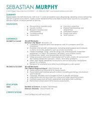 Aviation Mechanic Resume Aircraft Sles Quotes Sle Cover Letter