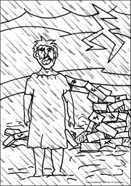 Foolish Mans House Coloring Page
