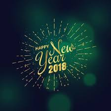 golden 2018 new year greeting background design Download Free
