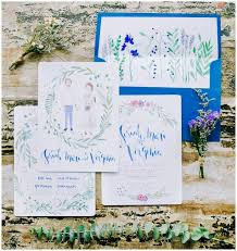Rustic Wedding Invitation Ideas With Blue Shades