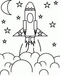 Rocket Ship Coloring Page Educations