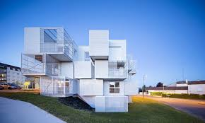 100 Architecture Of Homes A Series Of Cantilevering Cubes Make Up This French Social Housing