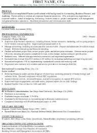 Cpa Resume Example Sample Accounting Career