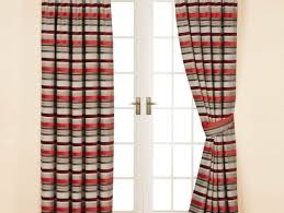 curtains admirable red and grey poppy curtains satiating red and