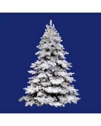 10 Pre Lit Flocked Alaskan Full Artificial Christmas Tree