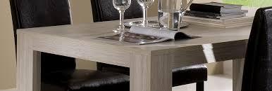 table de salle à manger contemporaine chêne blanchi clea table à