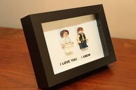 Star Wars Room Decor Uk by Lego I Love You I Know Framed Han U0026 Leia Star Wars Mini
