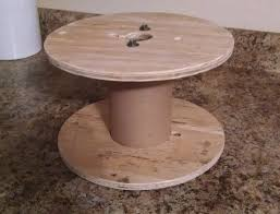 make a coffee station out of a small cable wire spool hometalk