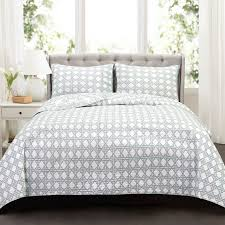 Lush Decor Belle 4 Piece Comforter Set by Aubree 3 Piece Charcoal Quilt Set Walmart Com