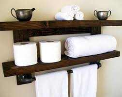 Bathroom Shelf With Towel Bar Wood by Bathroom Shelves Towel Rack Towel Bar Wood Shelf Bathroom