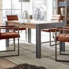 details zu esstisch detroit esszimmer tisch küchentisch in stirling oak und anthrazit