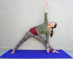 Standing Yoga Poses Triangle Pose