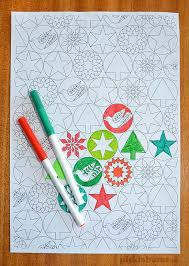 Free Printable Colour Your Own Christmas Wrapping Paper