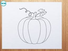 how to draw pumpkin