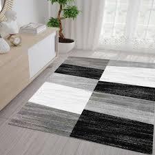 milano9119 grau wohnzimmer teppich geometrisches muster meliert vimoda homestyle