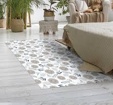 beige gänseblümchen schlafzimmer vinyl teppich