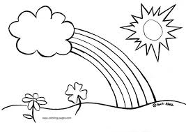 Easy Spring Coloring Pages For Kids Printable Sheet