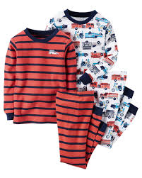 Carters Boys 4-Pc. Hero Snug Fit Cotton Pajamas