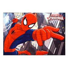 Marvel Spiderman Red 4 ft 6 in x 6 ft 6 in Juvenile Indoor