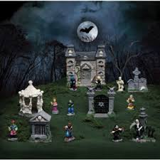 Funny Halloween Tombstones For Sale by Amazon Com Tombstone Corners Mini Halloween Village Sets 16 Pc