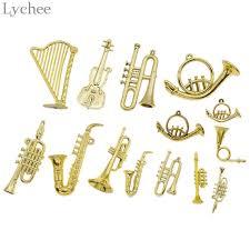 Lychee 10pcs Mini Musical Instrument Christmas Tree Ornament Xmas Hanging Drop Pendant DIY Party