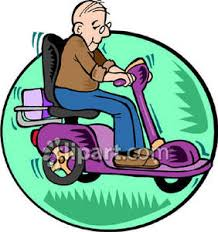 Old People Scooter Clipart