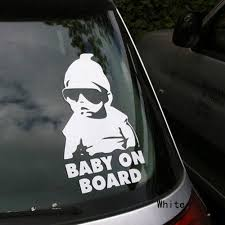 Baby On Board Carlos Hangover Funny Vinyl Reflective Car Sticker ...