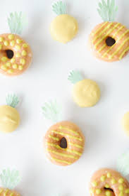 Cookie And Donut Pineapple Toppers Free Printable