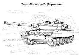 Tank Coloring Pages Free War Military 20