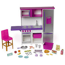 Walmart Purple Bathroom Sets by My Life As Doll Kitchenette With Large Refrigerator Walmart Com