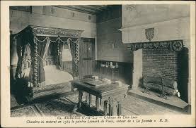 schloss ansicht mit kamin im schlafzimmer amboise