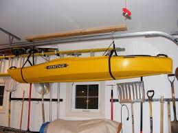 Kayak Hoist Ceiling Rack by Beautiful Garage Kayak Storage Garage Storage Galleries