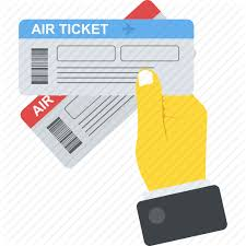 Air Ticket Traveling Offer Airplane Boarding Pass Travel Agency Icon
