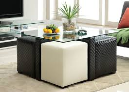 coffee tables attractive fabric storage ottoman with tray round