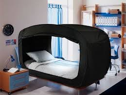 bed tent privacy pop s bed tent helps you sleep soundly when you re anxious
