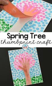 Spring Fingerprint Tree Is A Simple Art Project For Kids If You Love Cherry Blossom Crafts Or Season Craft This Perfect Your Kindergarten Classroom