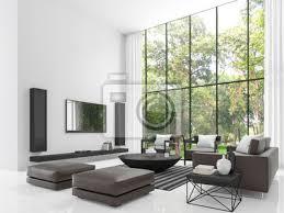 modernes weißes wohnzimmer 3d rendering image the wohnzimmer bilder myloview