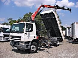 100 Bucket Trucks For Sale By Owner Used DAF FA75250 3 Sides Tipper Kipper Kran Crane FASSI Crane