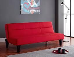 Walmart Black Futon Sofa by Amazon Com Kebo Futon Sofa Red Kitchen U0026 Dining