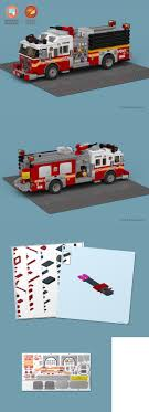 100 Lego Fire Truck Instructions LEGO Instruction Manuals 183449 Custom Stickers And To