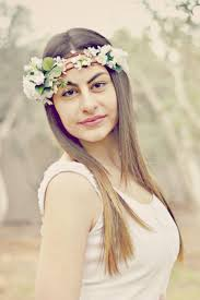 Woodland Hair Crown Rustic Flower Boho Wedding Head Piece White Bridal Wreath Ivory Floral Headpiece Style Eleni